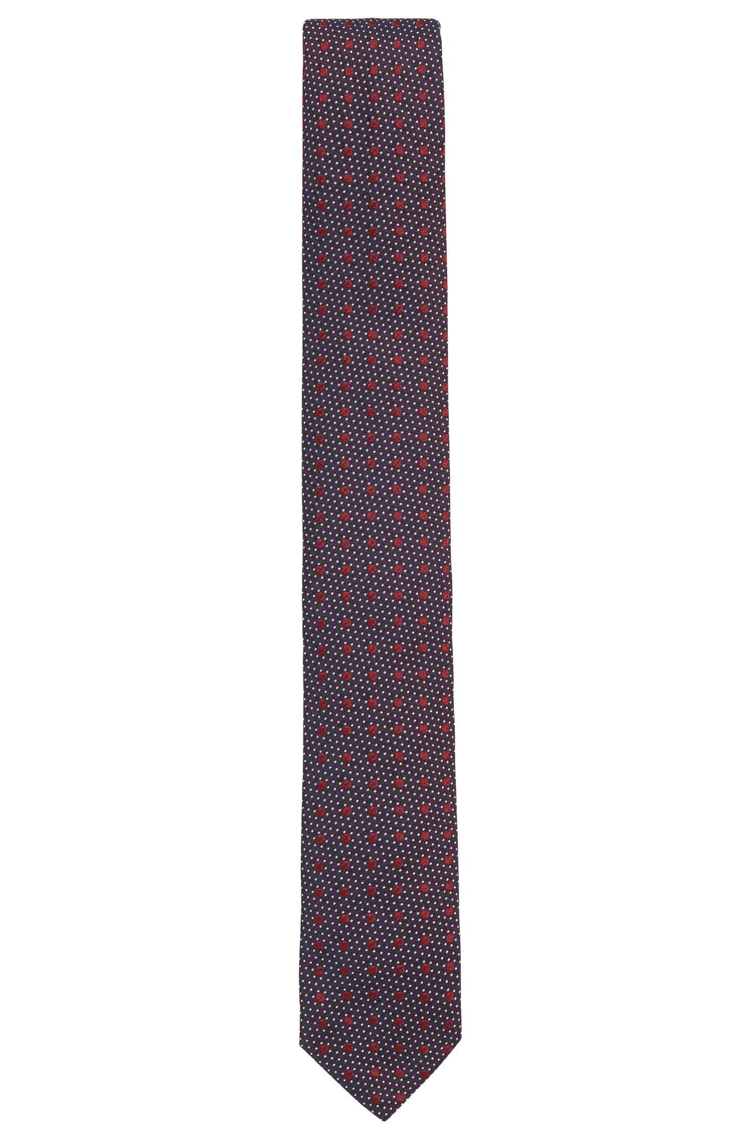 'Tie 6 cm ribbon loop' | Slim, Multi-Dot Silk Tie