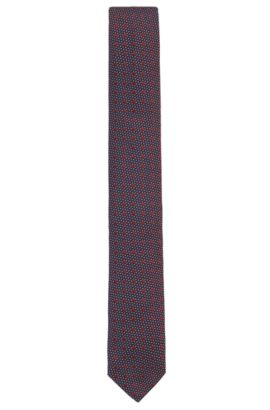 'Tie 6 cm ribbon loop' | Slim, Multi-Dot Silk Tie, Red