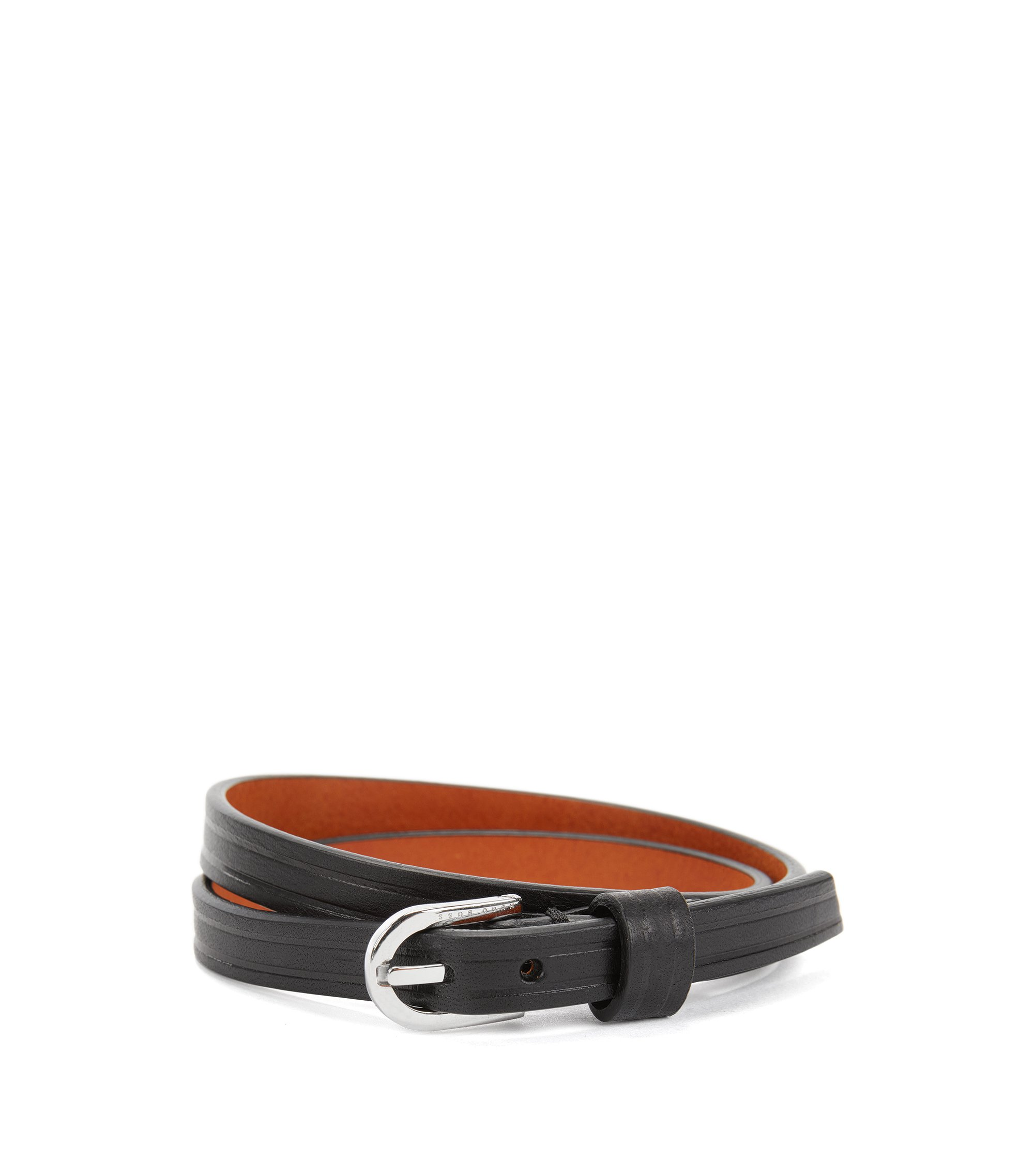 Double Wrap Leather Bracelet | Bello, Black
