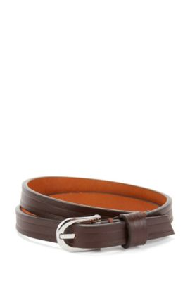 Double Wrap Leather Bracelet | Bello, Dark Brown