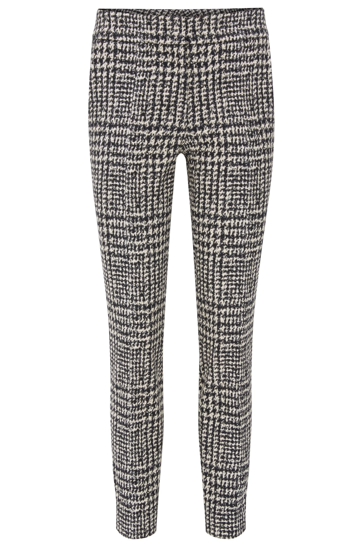Houndstooth Cropped Suiting Pant | Hevas