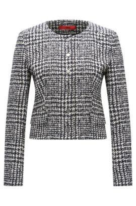 Stretch Bouclé Jacket | Ashani, Patterned