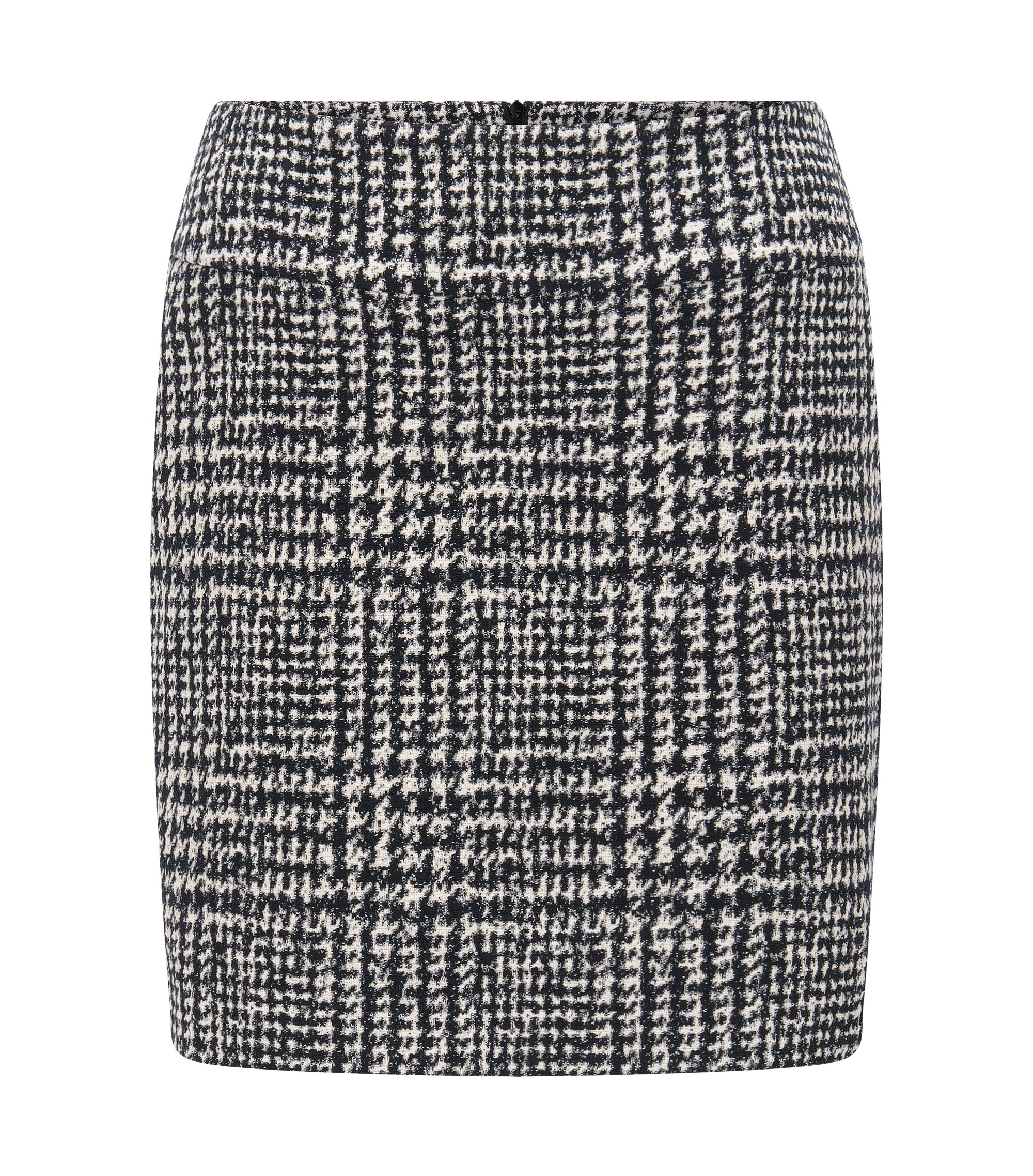 Houndstooth Bouclé Mini Skirt | Romis, Patterned