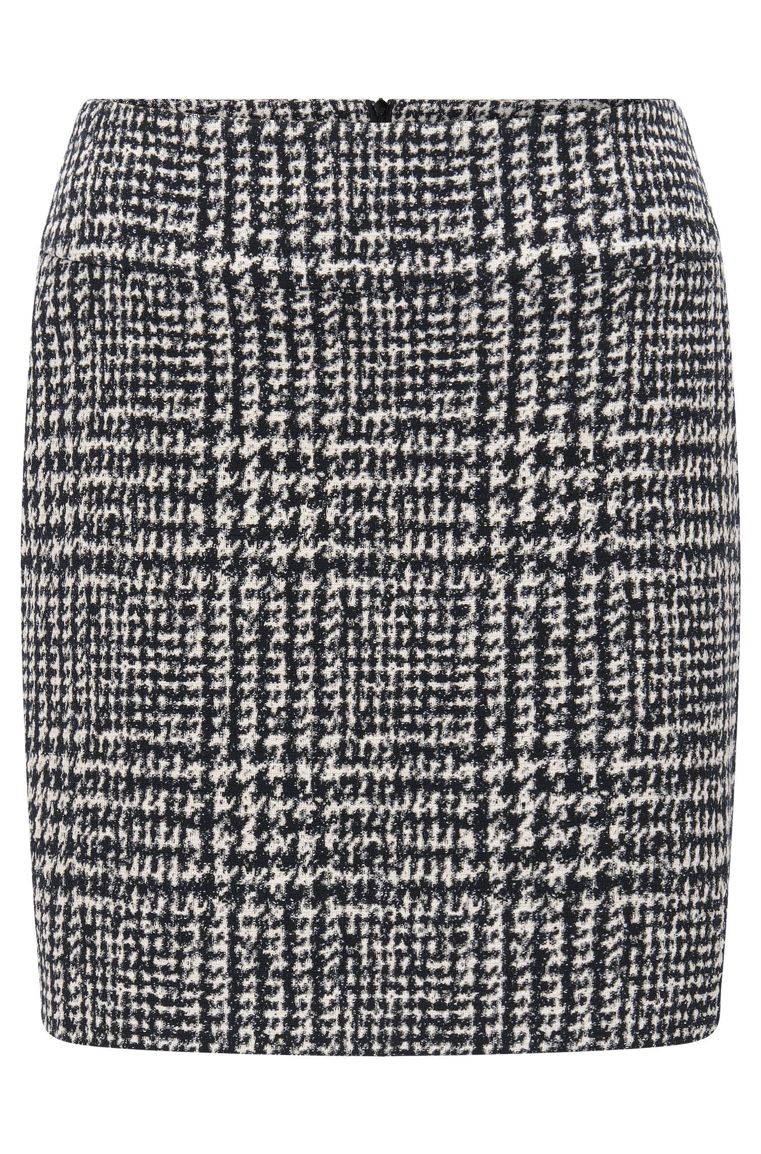 Houndstooth Bouclé Mini Skirt | Romis