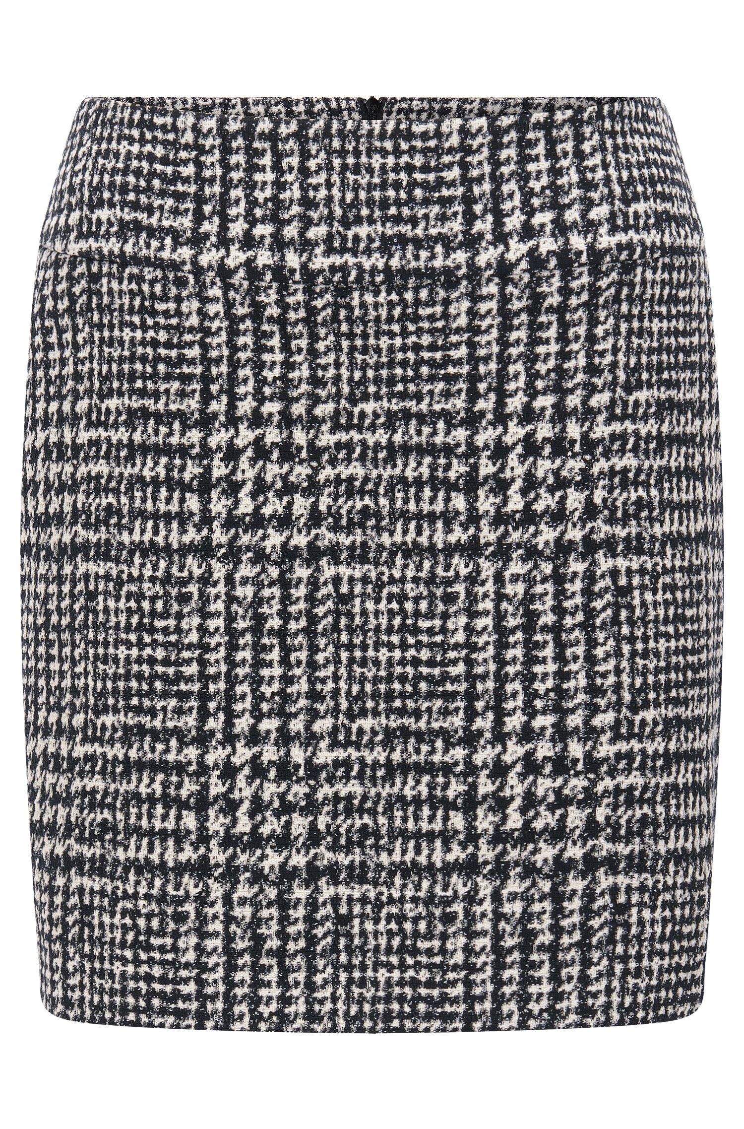 'Romis' | Houndstooth Bouclé Mini Skirt