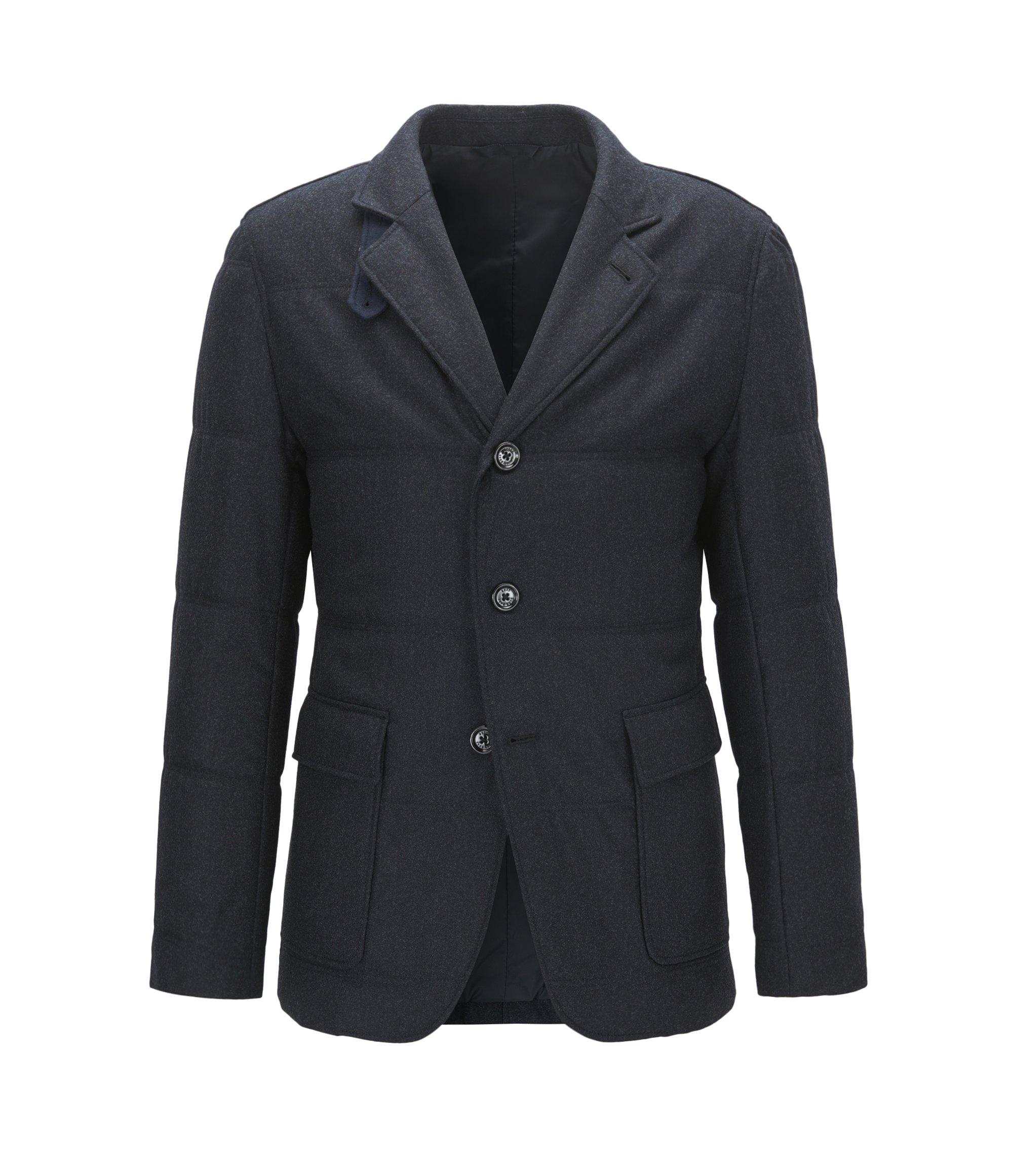 Water-Repellent Virgin Wool Cashmere Blend Sport Coat   T-Niklaas, Dark Blue