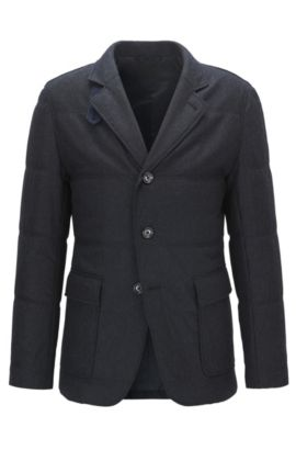 Water-Repellent Virgin Wool Cashmere Blend Sport Coat | T-Niklaas, Dark Blue