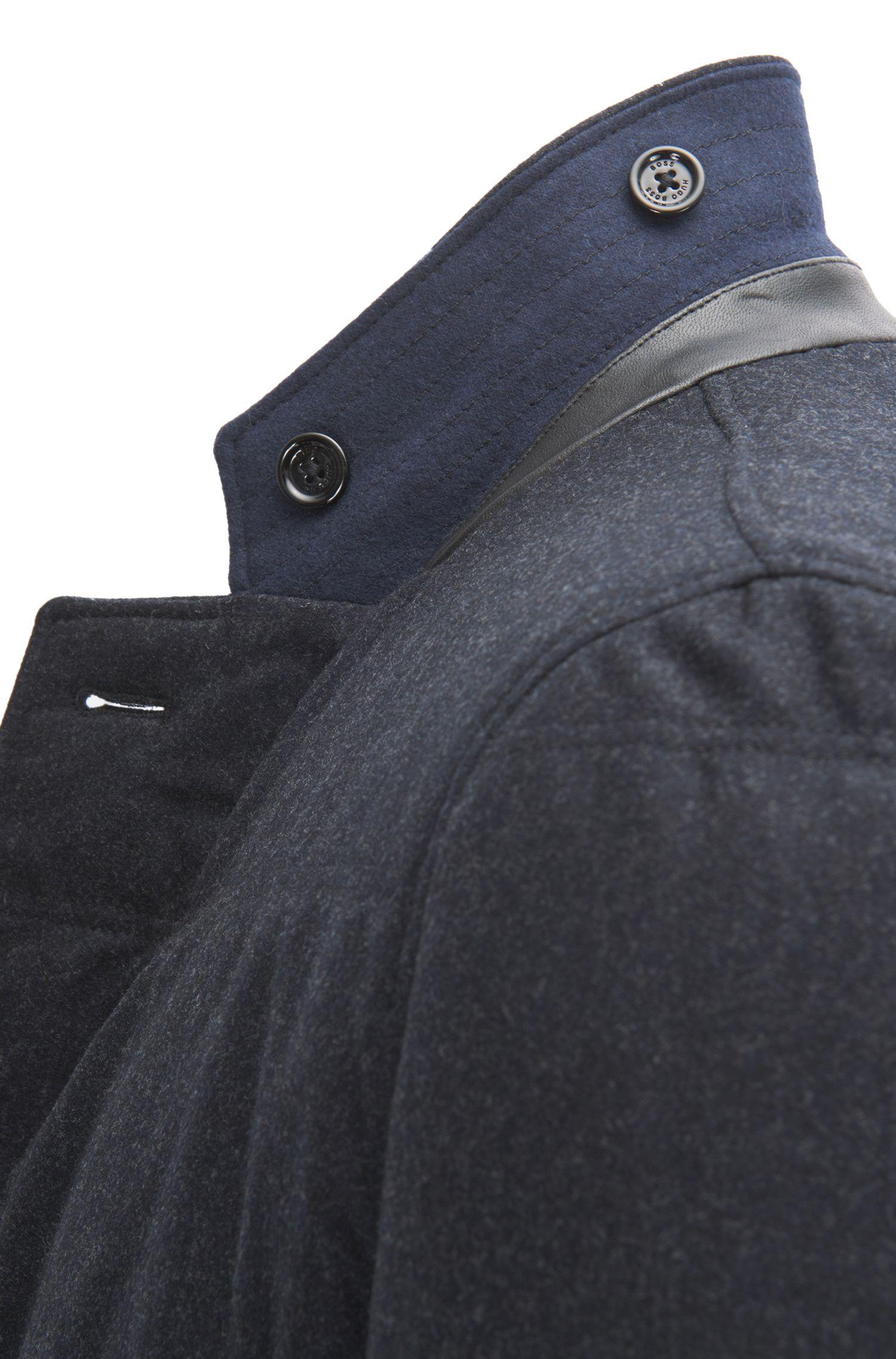 Water-Repellent Virgin Wool Cashmere Blend Sport Coat | T-Niklaas, Dark Blue