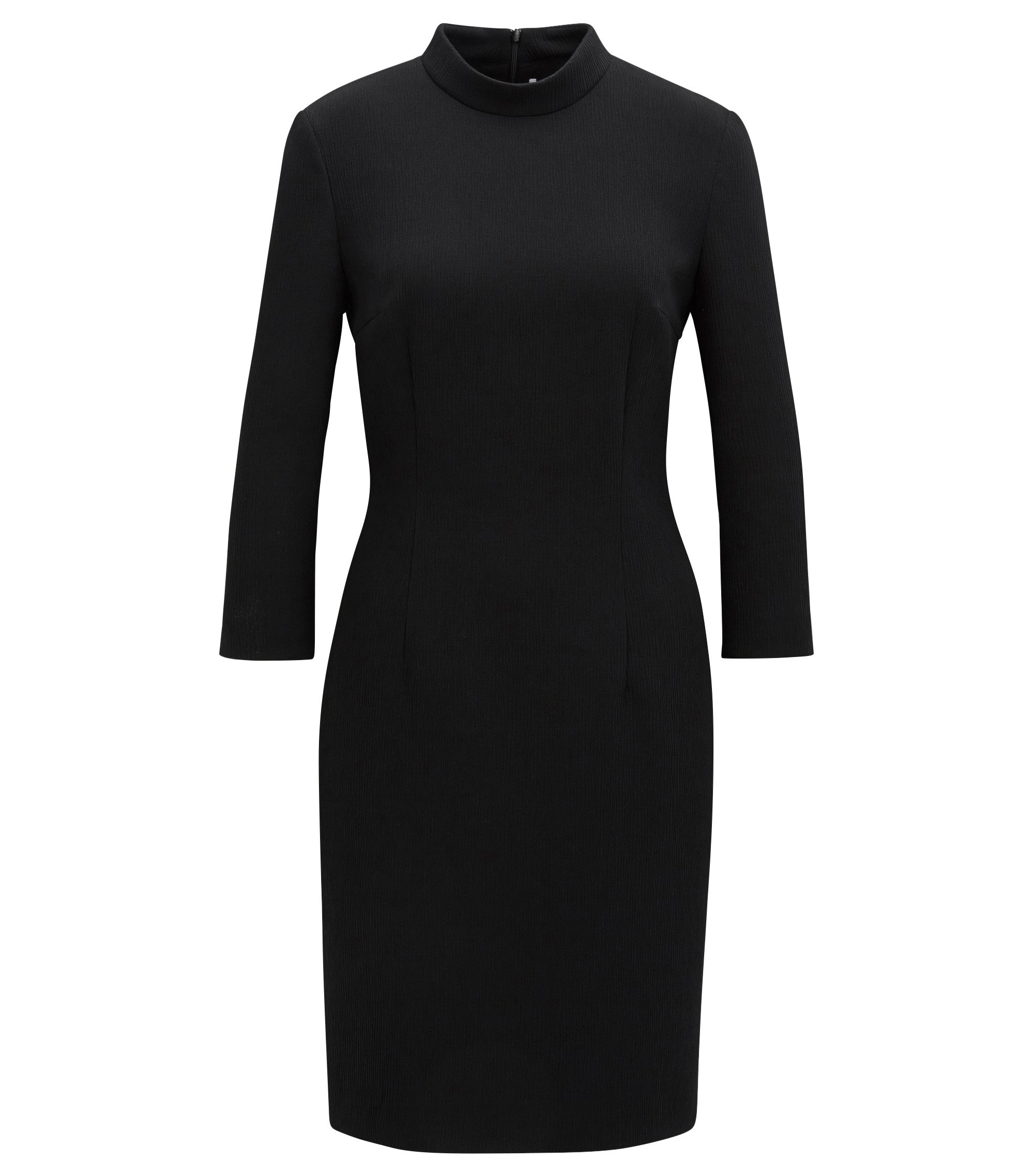 Crepe Sheath Dress | Dadena, Black