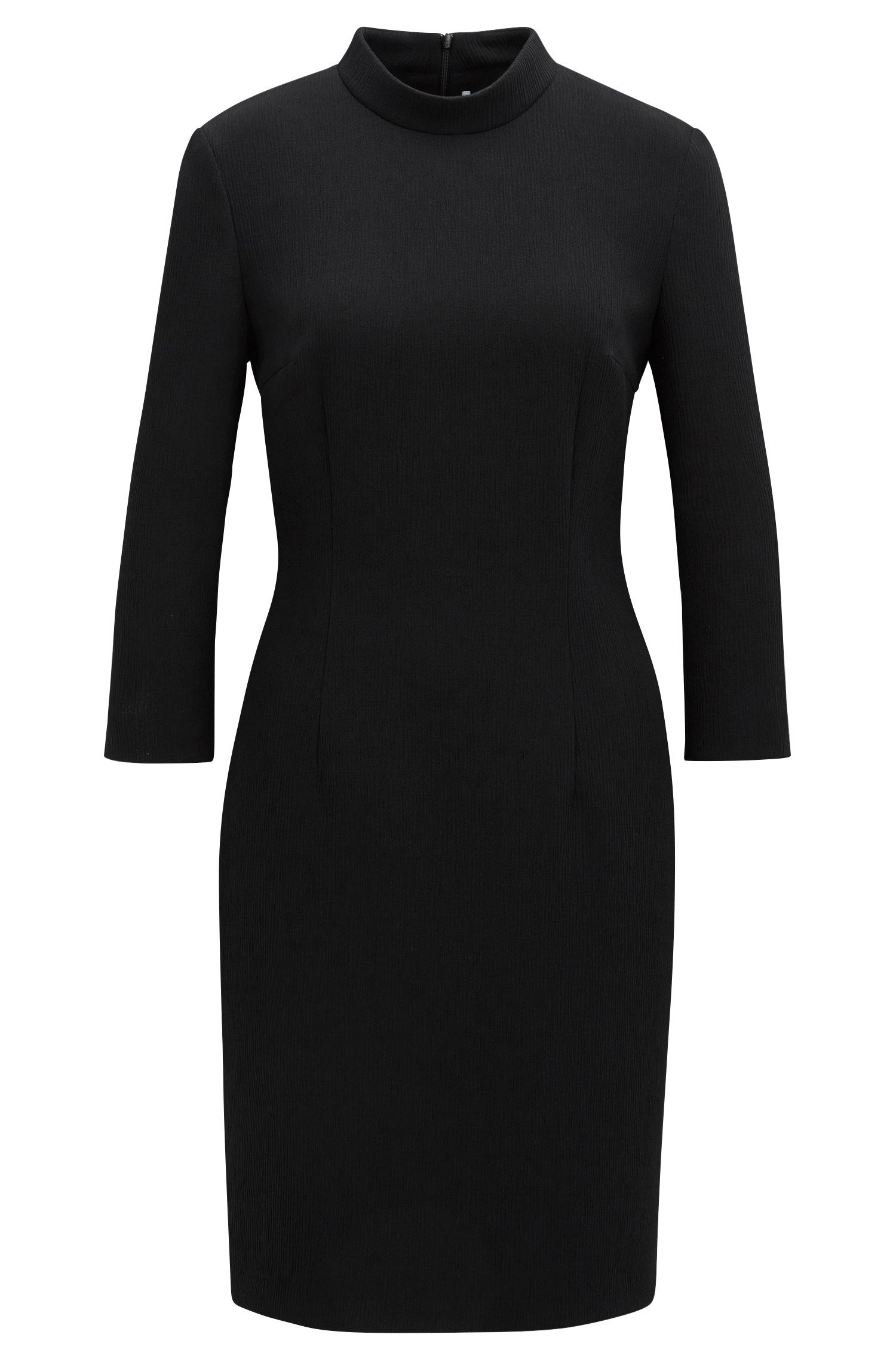 Crepe Sheath Dress | Dadena