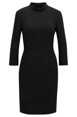 Crepe Sheath Dress | Dadena, Black