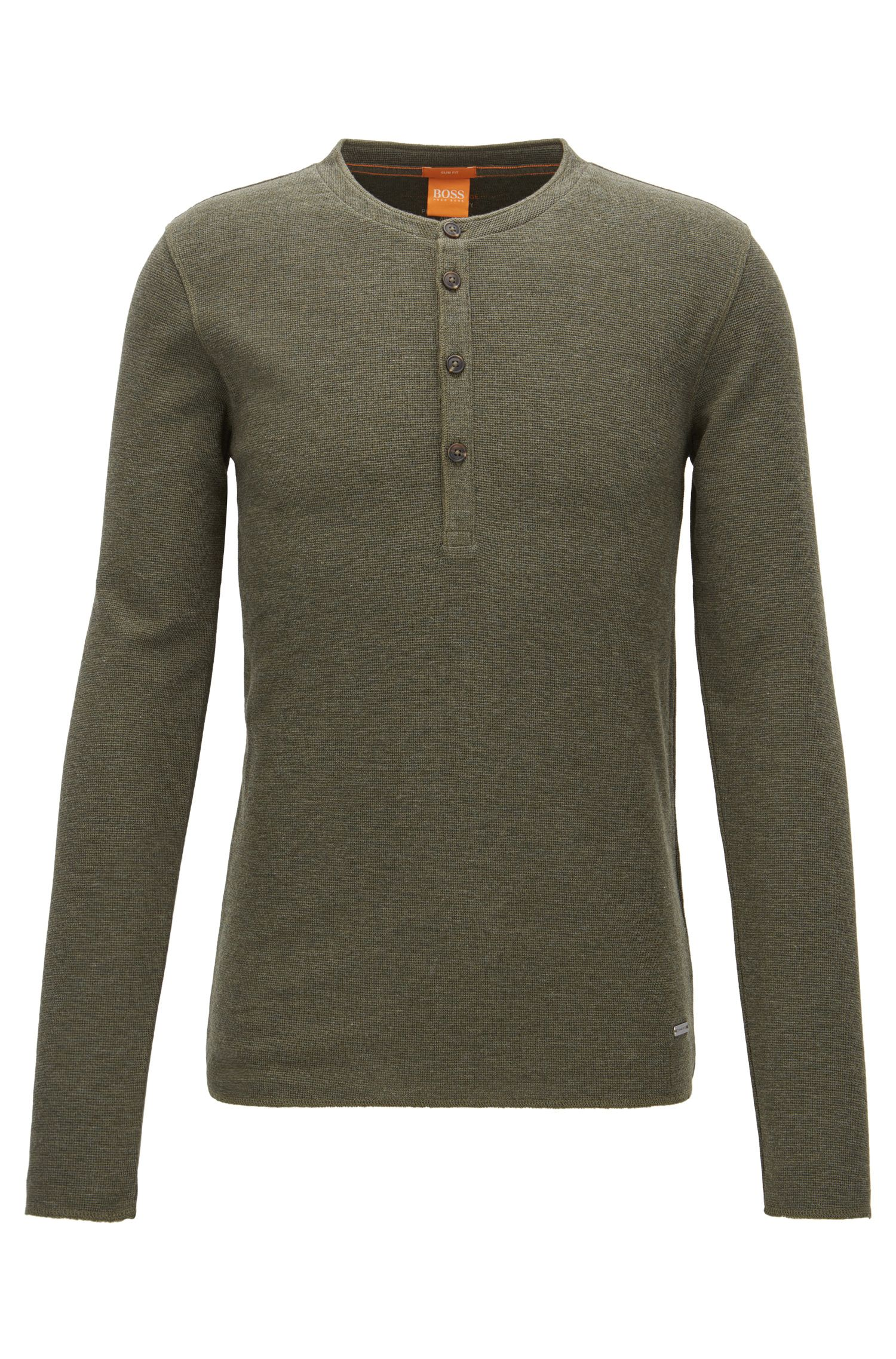 'Topsider' | Cotton Henley Shirt