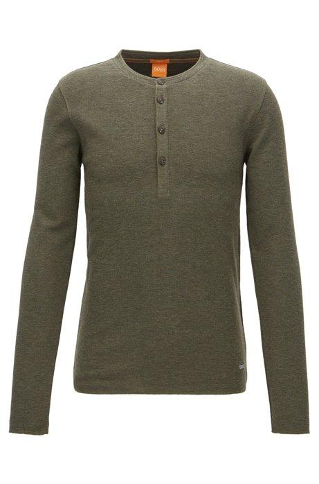 101c1ac5e BOSS - 'Topsider' | Cotton Henley Shirt