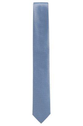 'T-Tie 6 cm' | Slim, Textured Silk Tie, Dark Blue