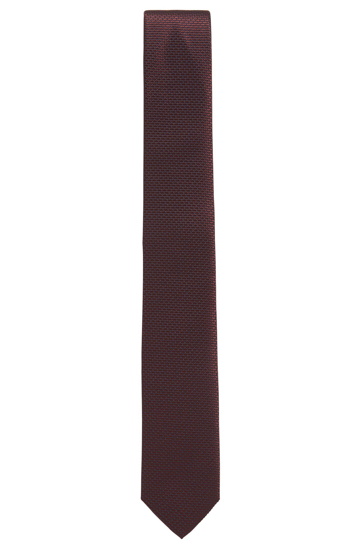 BOSS Tailored Textured Italian Silk Slim Tie