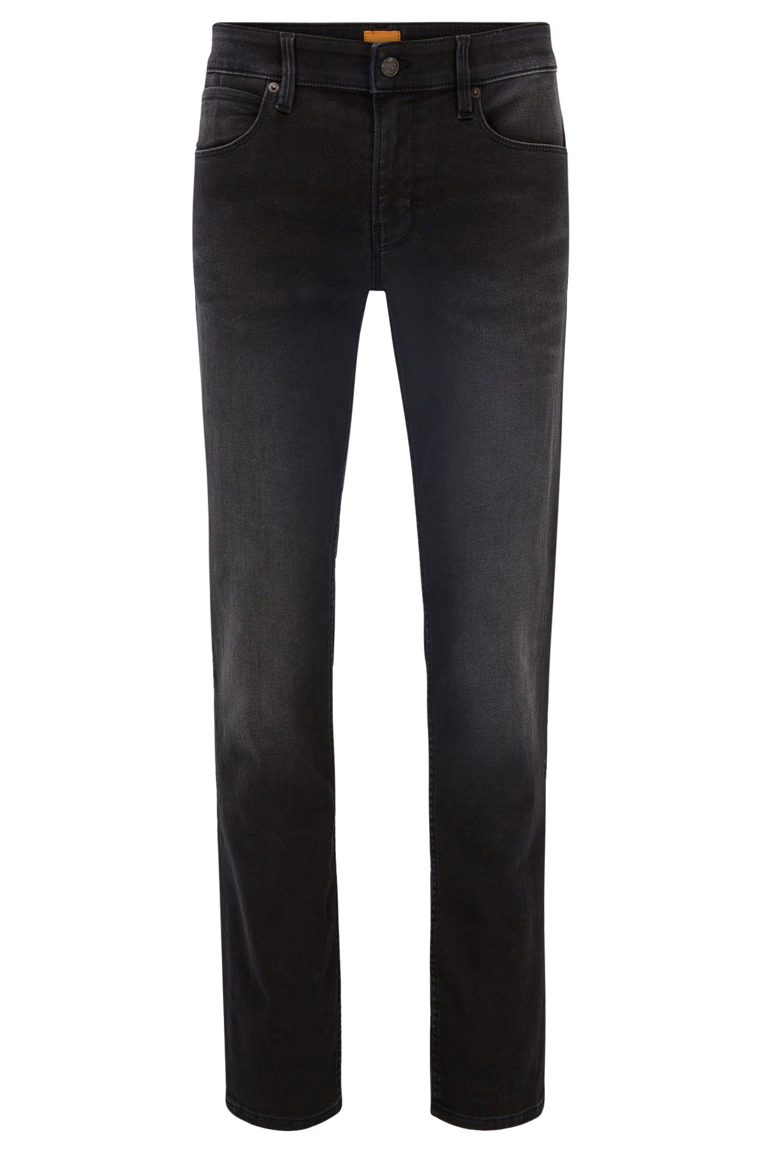 9.5 oz Stretch Cotton Blend Jeans, Slim Fit | Orange 63