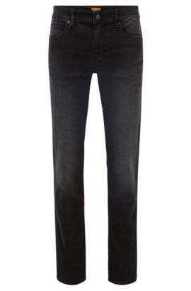 9.5 oz Stretch Cotton Blend Jeans, Slim Fit | Orange 63, Black
