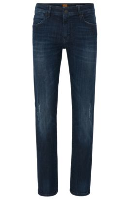 'Orange24 Barcelona' | Regular Fit, 11 oz Stretch Cotton Blend Jeans, Dark Blue