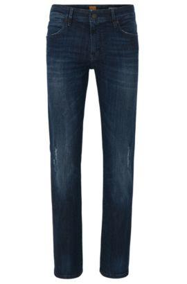 'Orange24 Barcelona' | Regular Fit, 11 oz Stretch Cotton Blend Jeans, Dark Blue