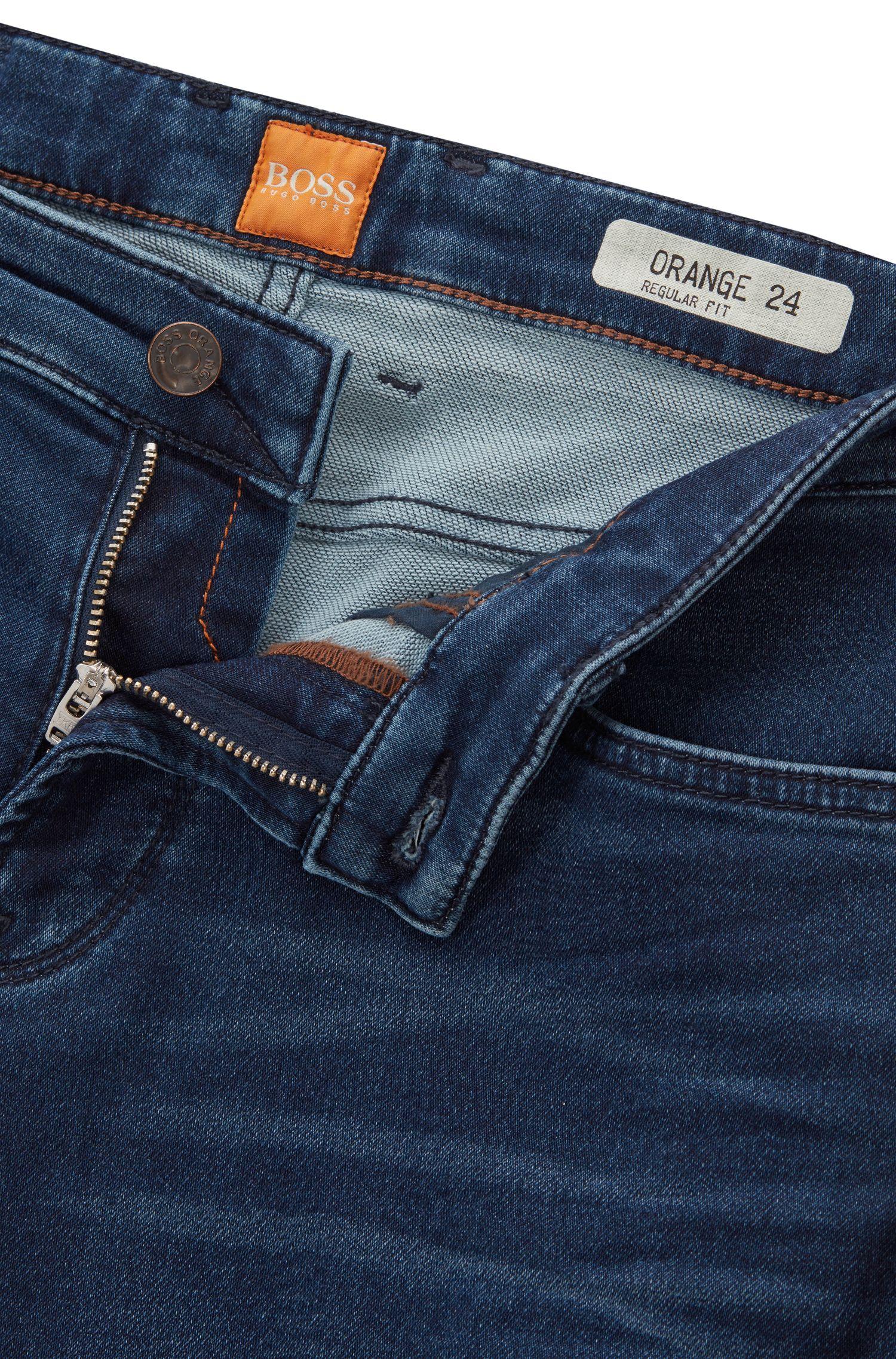Stretch Cotton Jean, Regular Fit | Orange Barcelona