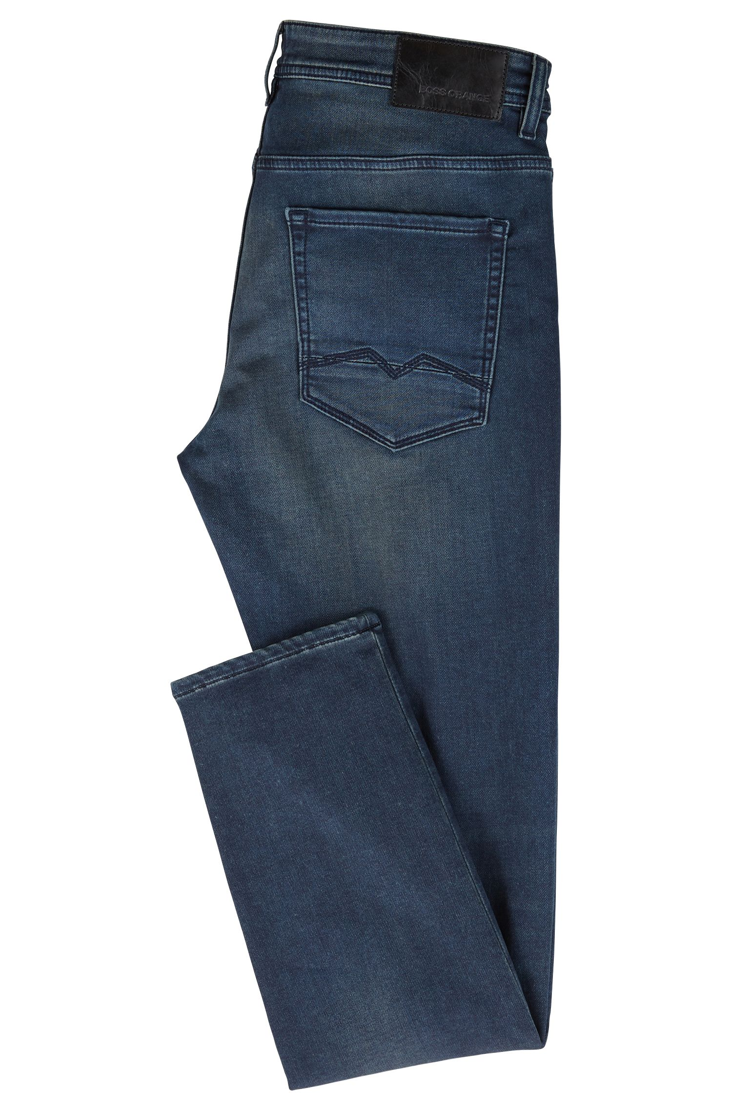 Stretch Cotton Jean, Tapered Fit | Orange90 P, Dark Blue