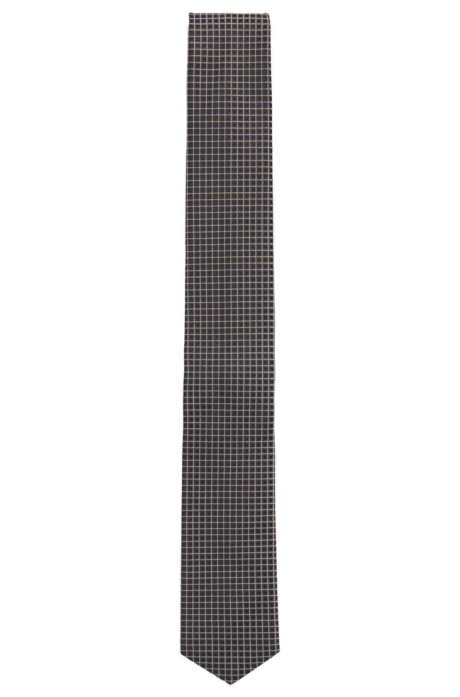 Check Silk Tie, Slim   Tie 6 cm Traveller