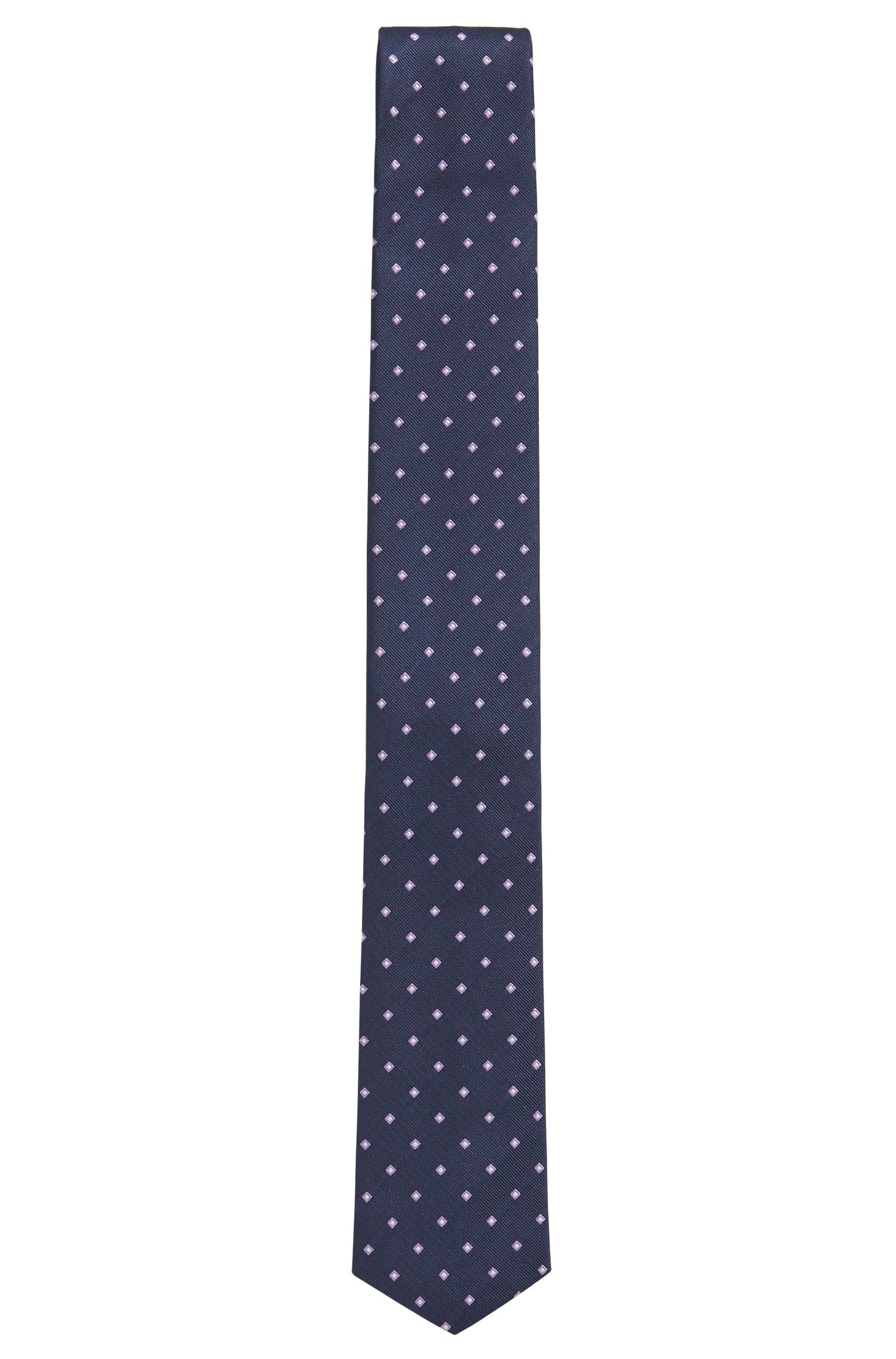 BOSS Traveler Checked Italian Silk Slim Tie