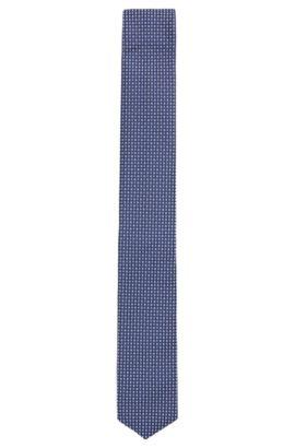 'Tie 6 cm Traveller' | Slim, Check Silk Tie, Light Purple