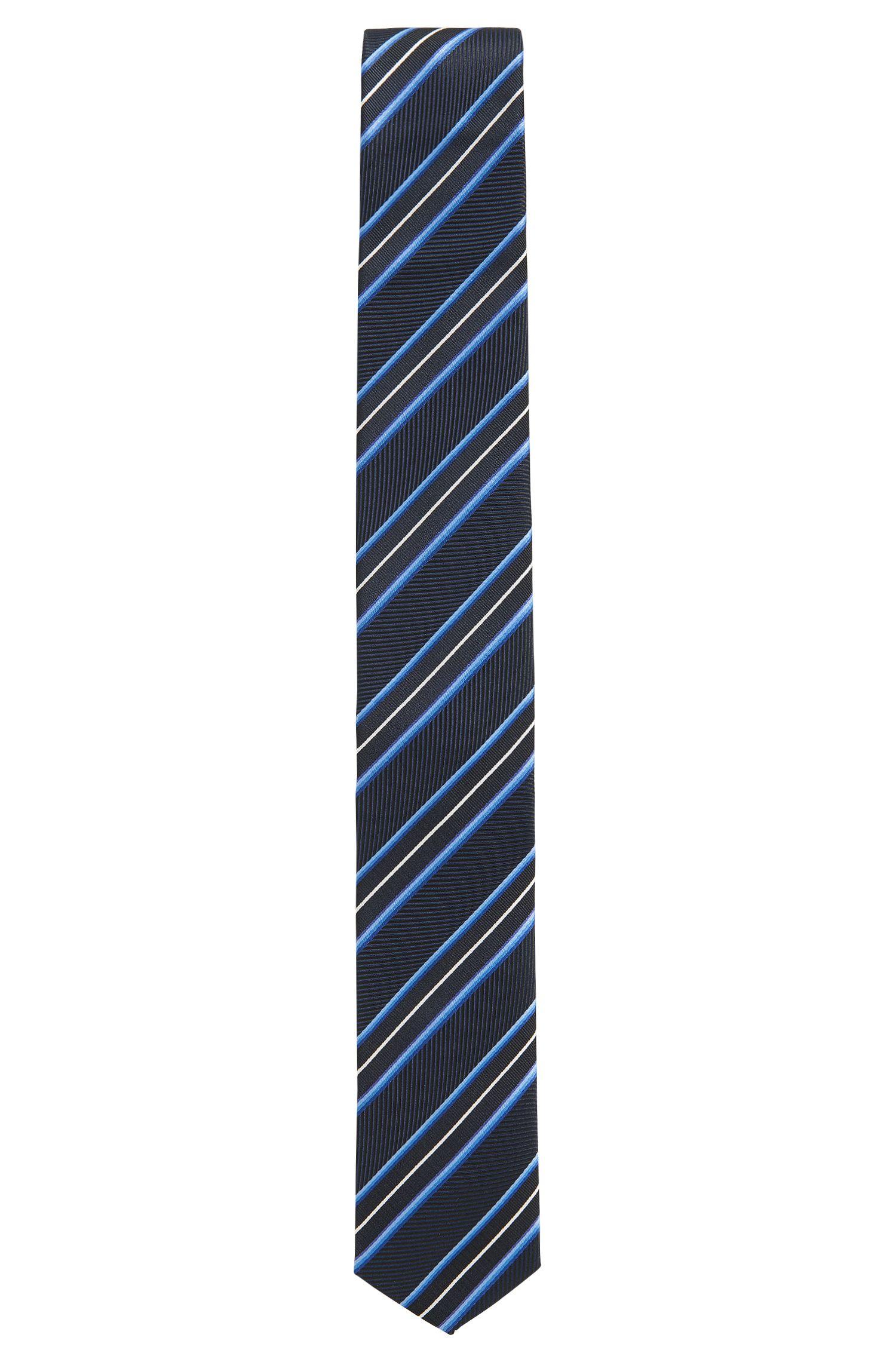 Traveller Striped Italian Silk Slim Tie