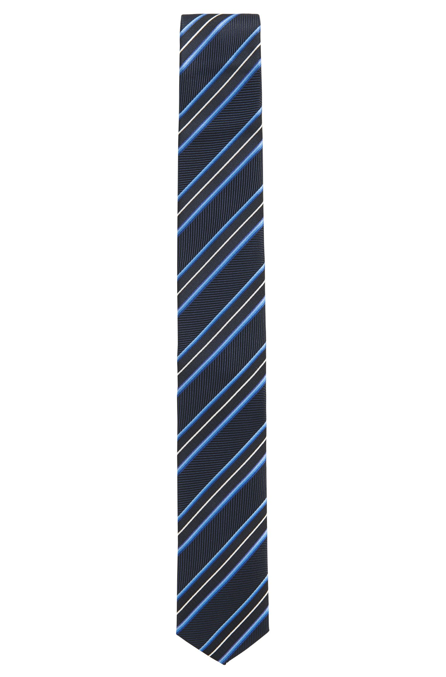 'Tie 6 cm Traveller' | Slim, Striped Silk Tie