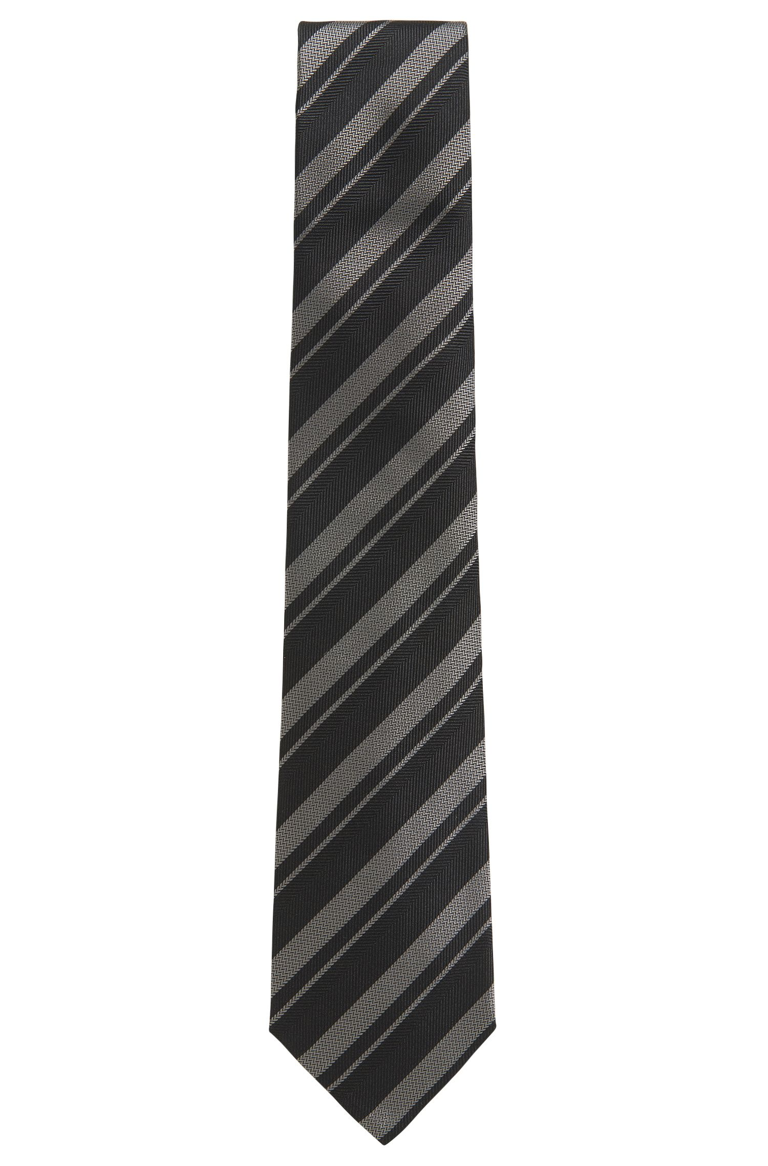 BOSS Tailored Striped Silk Slim Tie