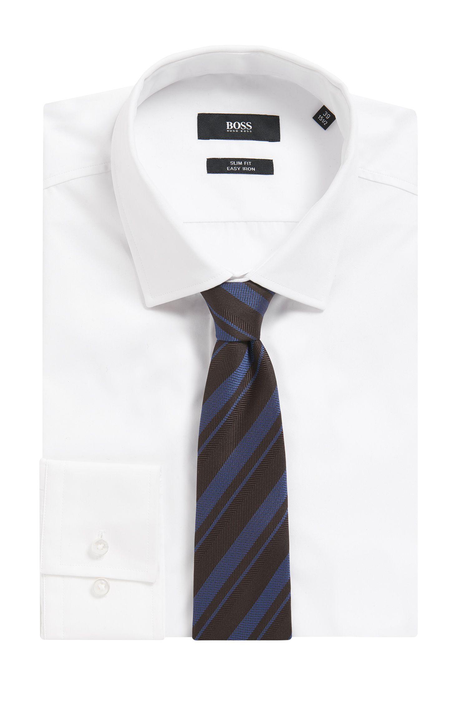 BOSS Tailored Striped Silk Slim Tie