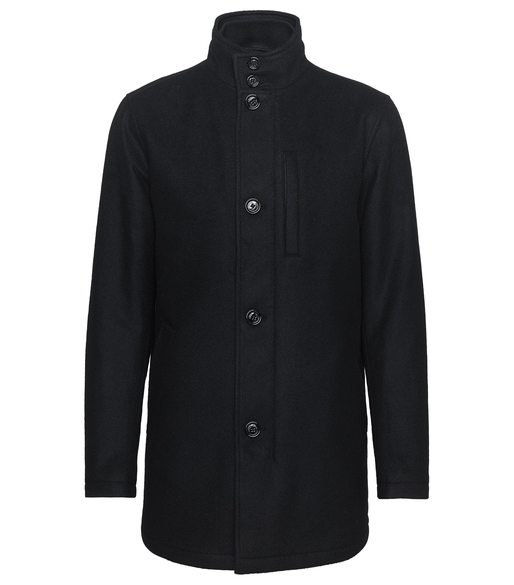 Wool Blend Jacket | Camron, Black