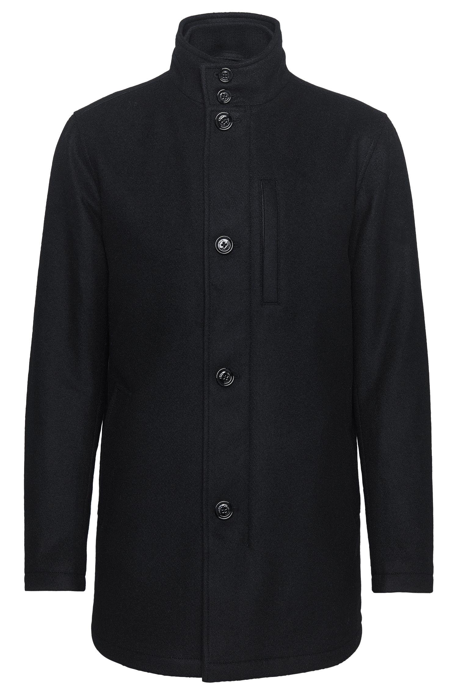 Wool Blend Jacket   Camron, Black