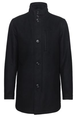 'Camron' | Wool Blend Jacket, Black