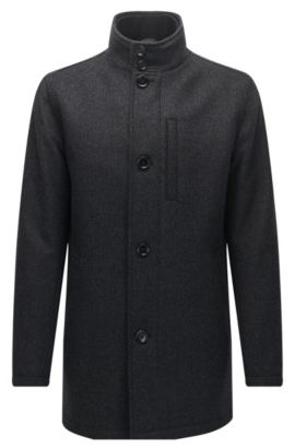 'Camron' | Wool Blend Jacket, Dark Grey