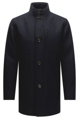 'Camron' | Wool Blend Jacket, Dark Blue