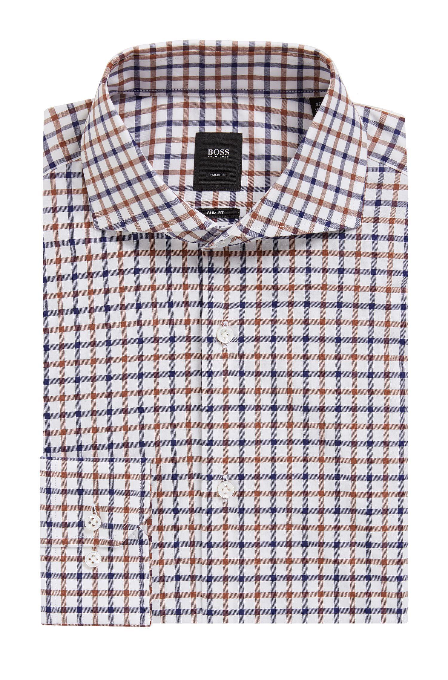 'T-Christo'   Slim Fit, Check Cotton Dress Shirt