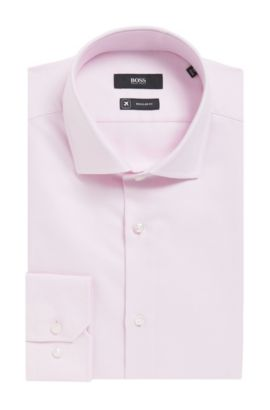 'Gordon'   Regular Fit, Fresh Active Traveler Dress Shirt, light pink