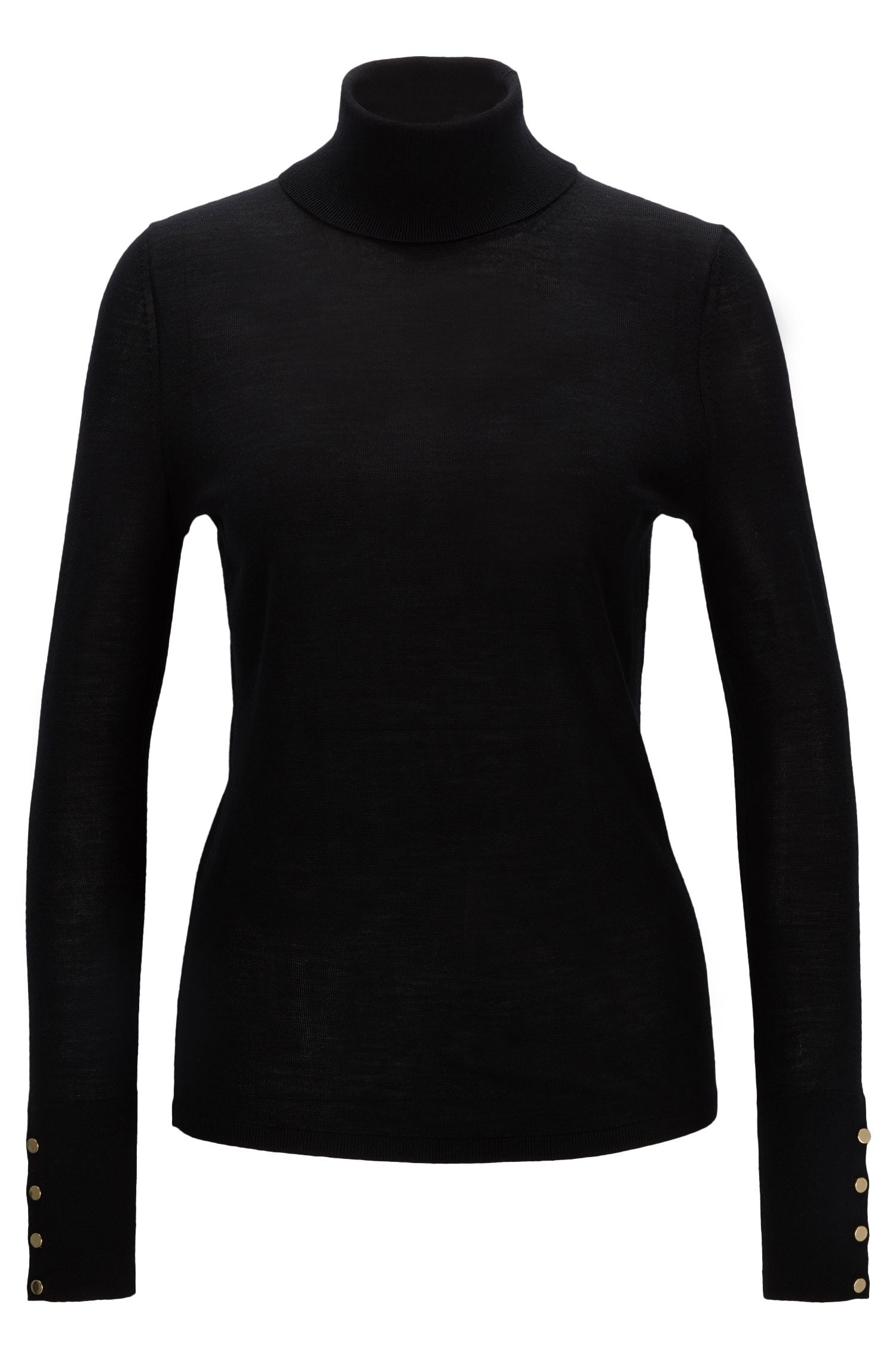 Virgin Wool Turtleneck Sweater | Farrella