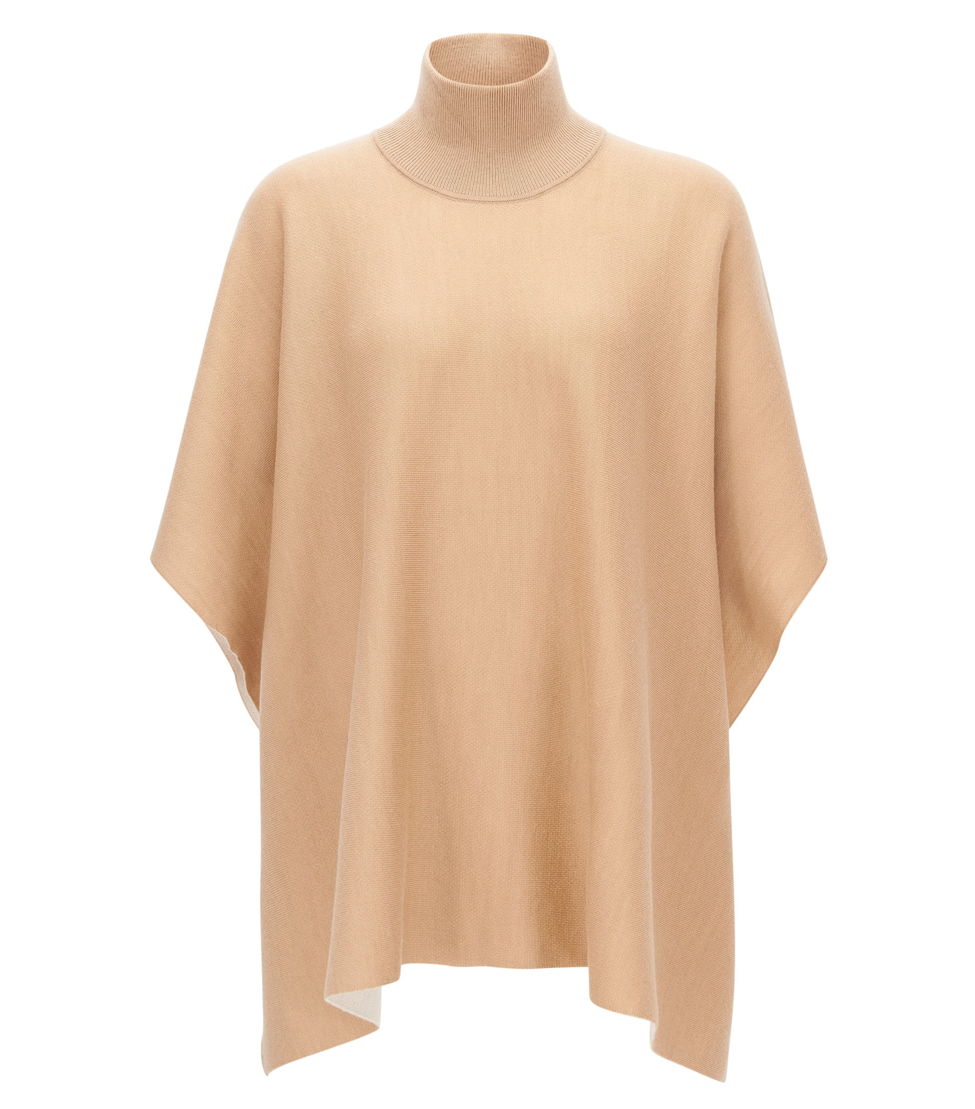 Virgin Wool Turtleneck Poncho | Lija, Patterned