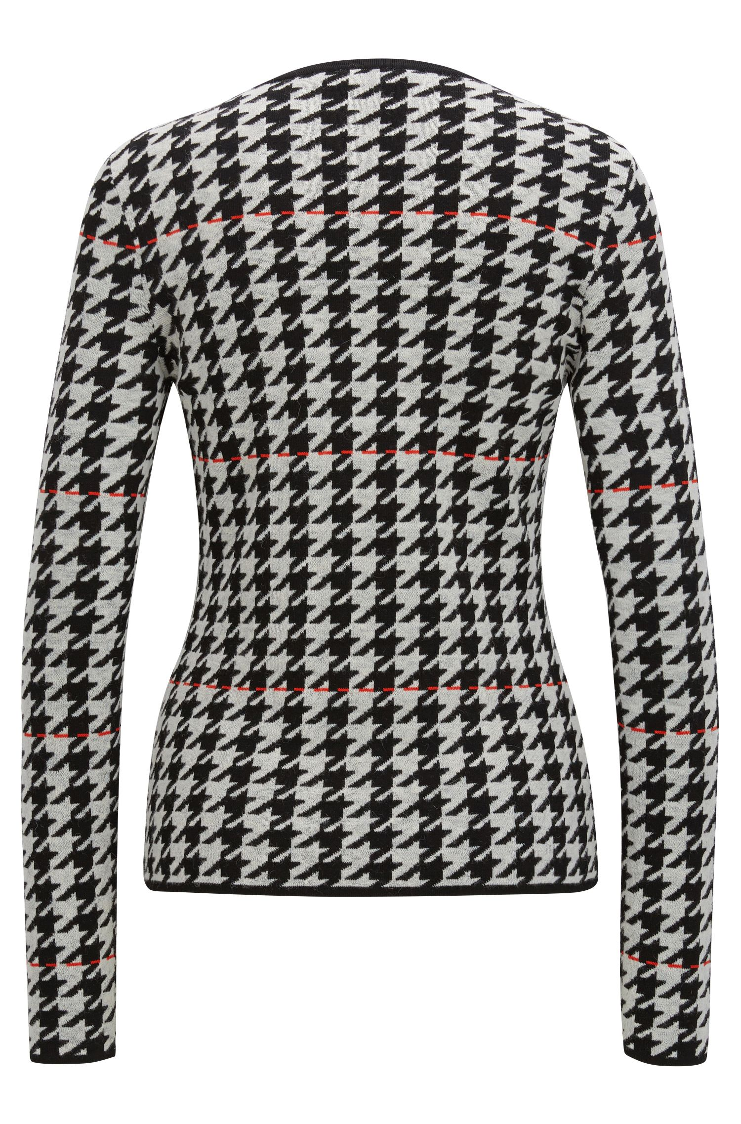 Viscose Houndstooth Sweater | Fatma