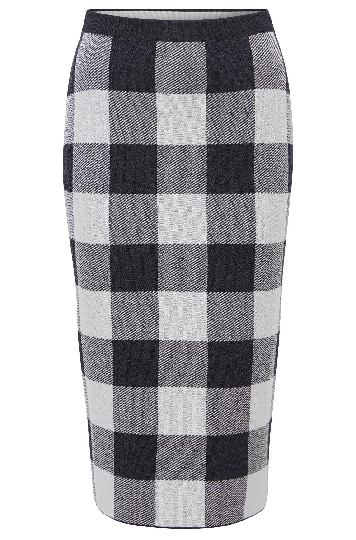 Checked Pencil Skirt | Fernanda