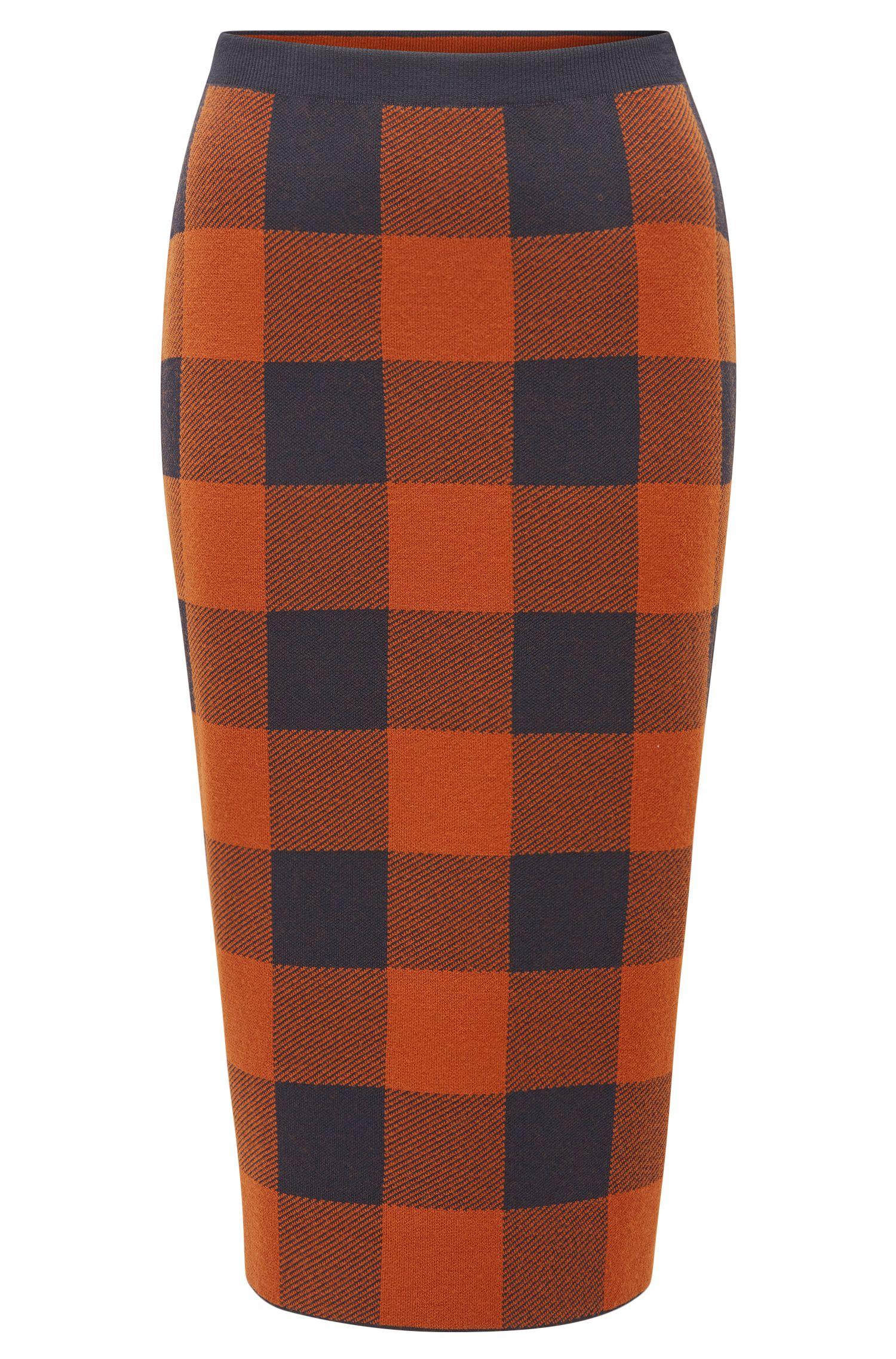 Checked Pencil Skirt | Fernanda