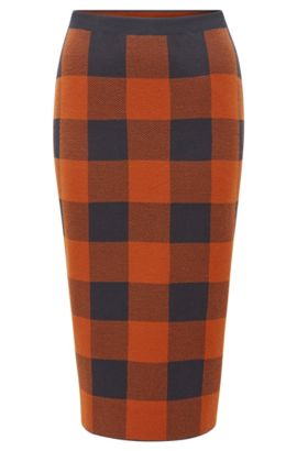 Checked Pencil Skirt | Fernanda, Patterned
