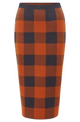 Checked Pencil Skirt | Fernanda, Patterned