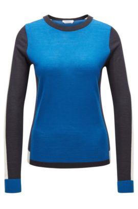 'Ferda'   Colorblocked Virgin Wool Sweater, Patterned