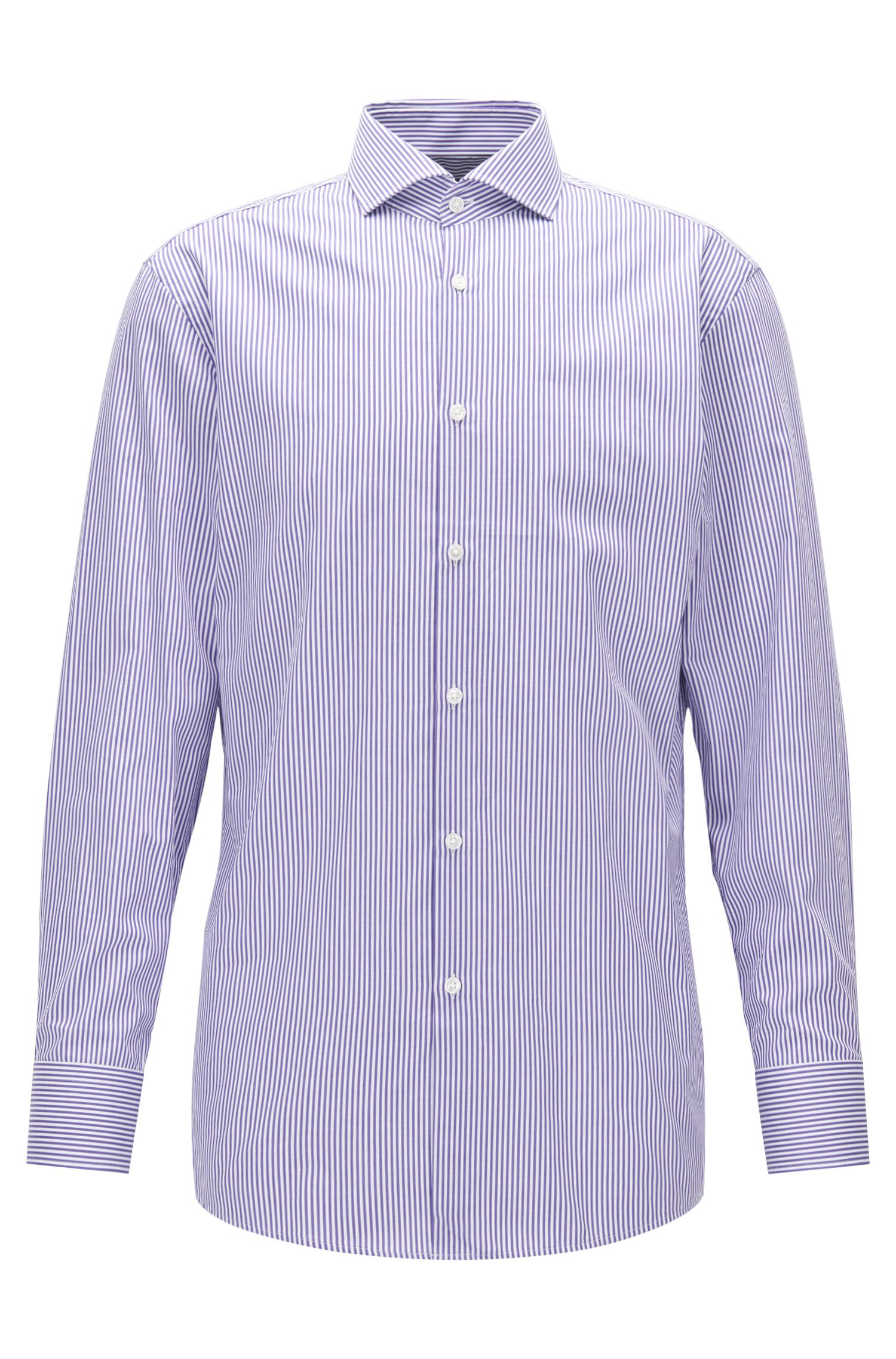Striped Cotton Dress Shirt, Sharp Fit | Mark US