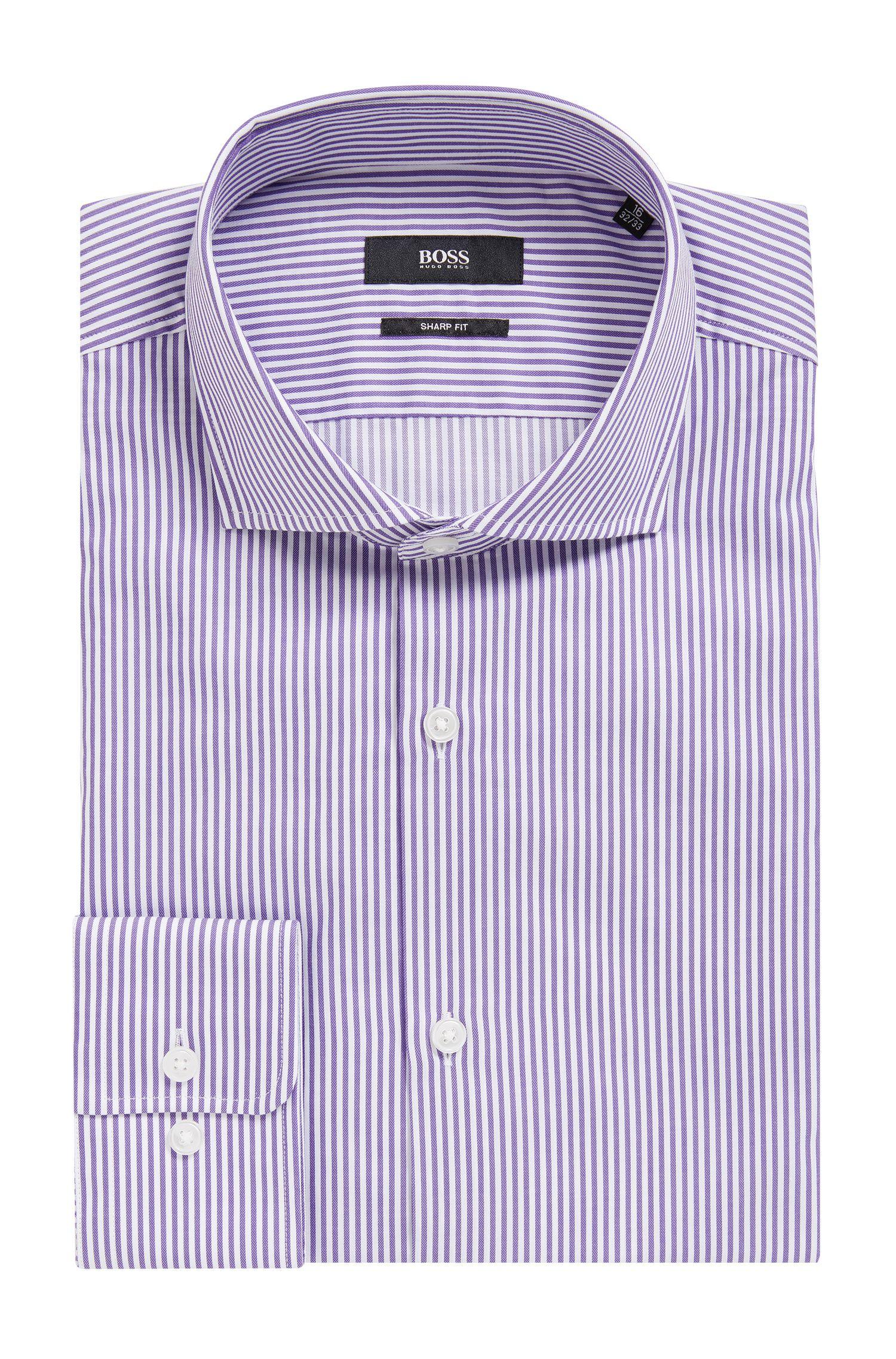 Striped Cotton Dress Shirt | Mark US