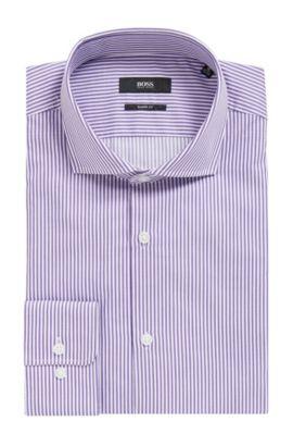 'Mark US' | Sharp Fit, Striped Cotton Dress Shirt, Purple